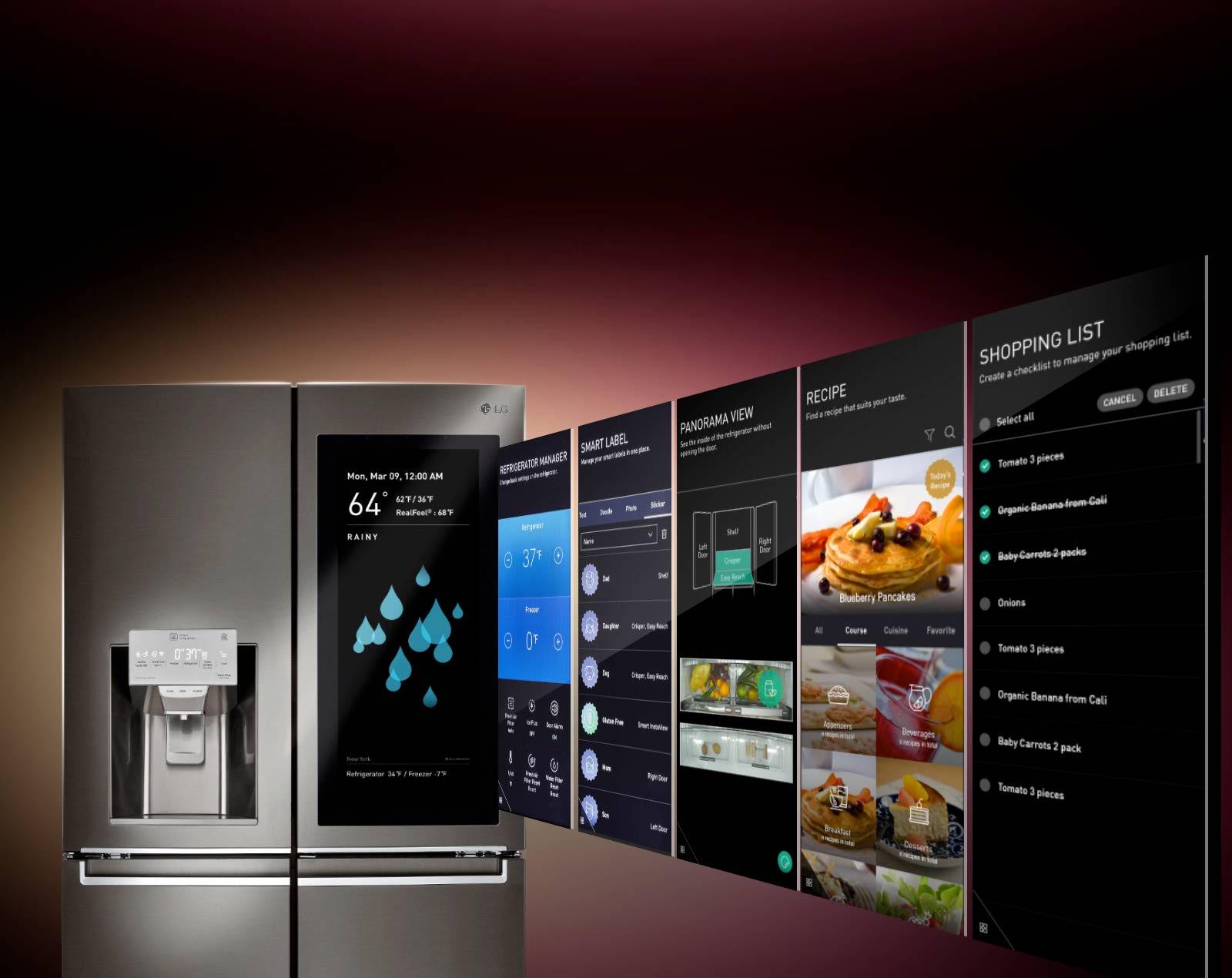 تکنولوژی ™InstaView ThinQ در یخچال LG LNXS30996D