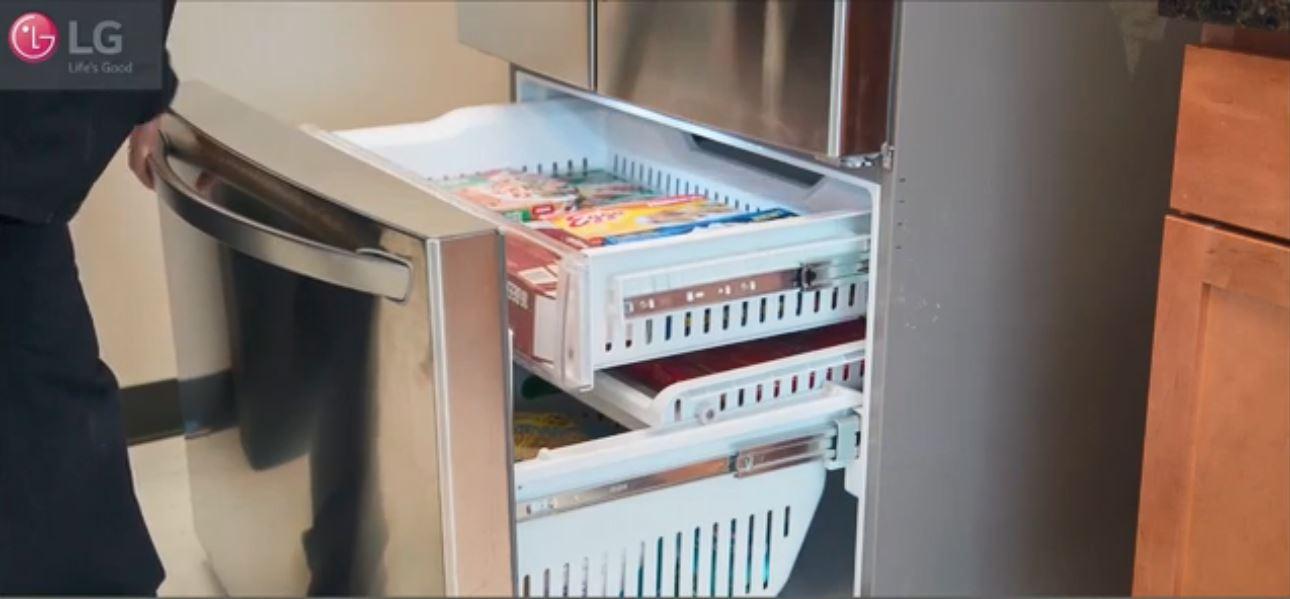 بستن صحیح درب یخچال ال جی