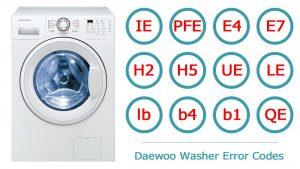 ارور ماشین لباسشویی دوو Daewoo