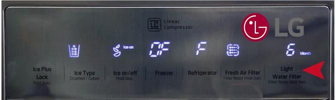 آموزش ریست فیلتر آب یخچال ال جی LG
