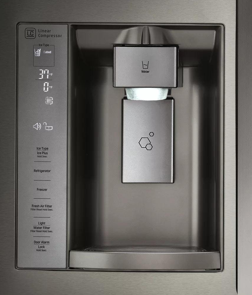 تنظیمات نمایشگر یخچال فریزر و ساید بای ساید ال جی LG