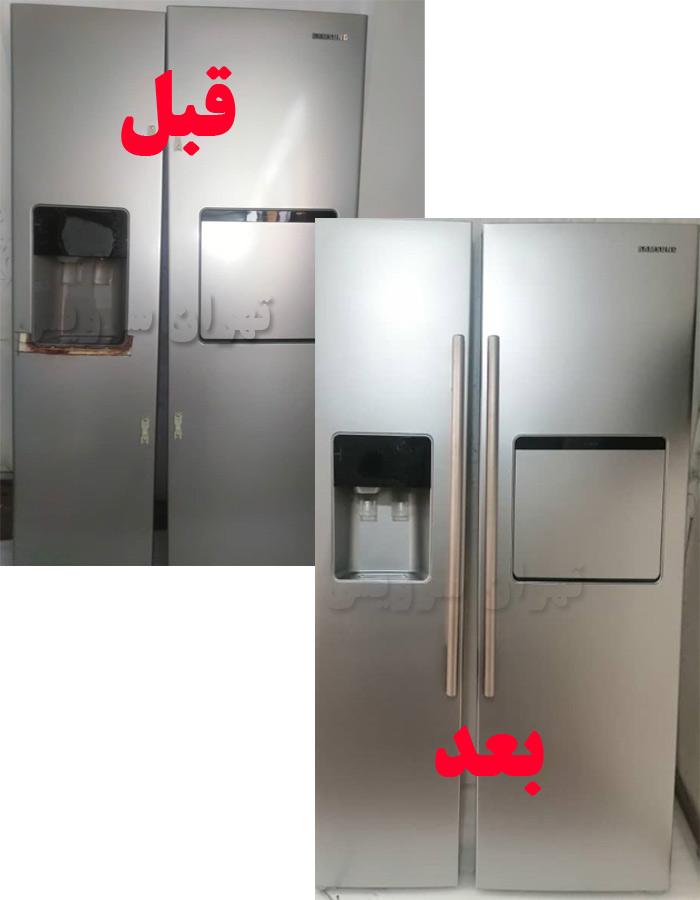 نمونه هایی از پوسیدگی درب یخچال